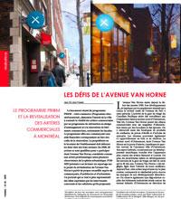 Les défis de l'avenue Van Horne