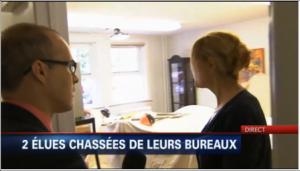 Deux élues chassées de leurs bureaux. Reportage de TVA Nouvelles