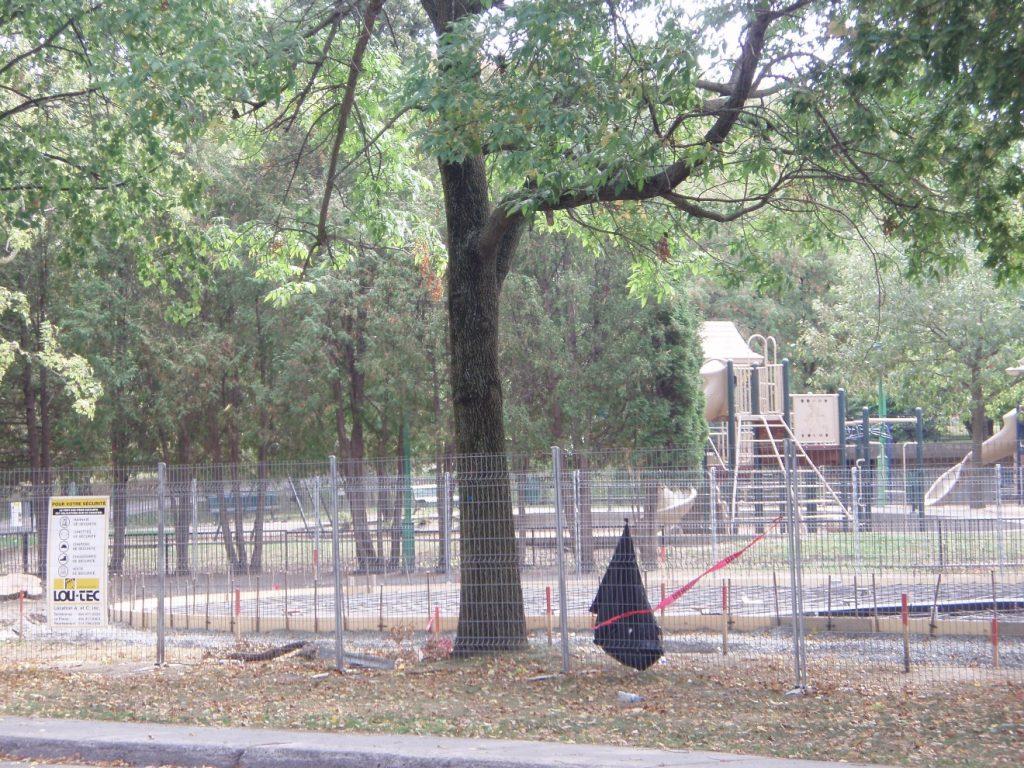 Des jeux d'eau au parc Beaubien; travaux en cours….
