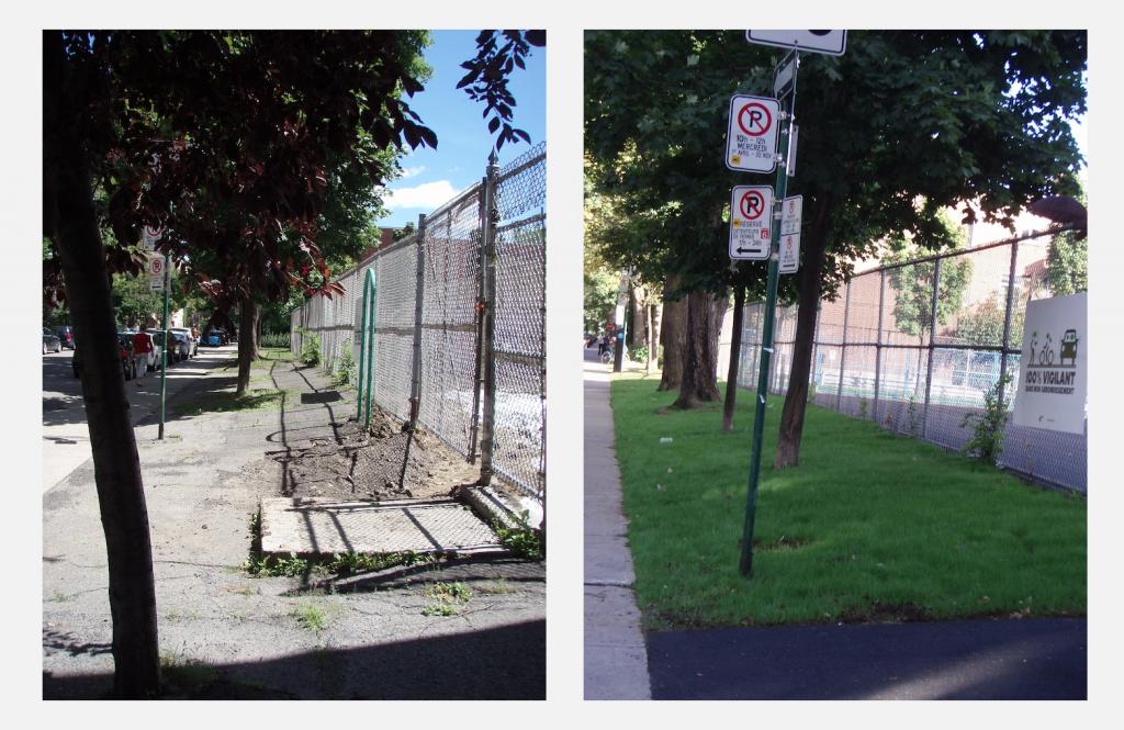 École Lajoie – avant et après.